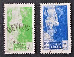 GROTTE DE JEITA 1955 - OBLITERES - YT 114/15 - MI 541/42 - Liban