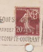 """Semeuse Perforée """" JMP """" De J.M Paillard De 1924 Pour Bordeaux TB - Francia"""