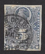 Timbre Du Chili 1878 à 99     '    Yvert  N° 24  '  Christophe COLOMB,  5 C. Outremer - Chili