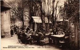 CPA ECOUEN-EZAINVILLE Maison GENTILHOMME Place De La Gare. Café-Tabacs (509323) - Ecouen