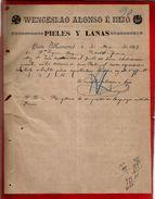 Courrier Espagne Wenceslao Alonso E Hijo Pieles Y Lanas Lerin Navarra 9-03-1899 - écrit En Espagnol - España