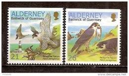 Yvert & Tellier N° 146a/147a ** Année 2000 Faucon Pèlerin - Alderney