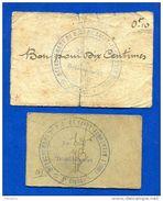 St  Florentin  2  Bons  P.g  89/14   1914/18 - Notgeld