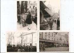 MONTMARTRE (PARIS 18 E) 4 PHOTOS TIREES D'UN ALBUM ANNEES 60 (SACRE COEUR CABARET DE LA BOHEME LE MOULIN JOYEUX...) - Lieux