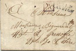 LETTRE 1827 AVEC CACHET DE PORT PAYE P21P LANNION - Marcophilie (Lettres)