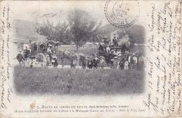 Halte En Cours De Route (Saint Barthélemy Le Pin) Oeuvre Municipale Lyonnaise Des Enfants à La Montagne - Circ 1904 - Altri Comuni
