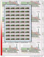 """Zaire 0993** 1,50K  Locomotive """"Buddicom 33"""" - Feuille / Sheet De 50  MNH - Zaïre"""