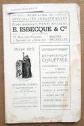 """Catalogue """"Chauffage, Ets E. Isbecque & Cie, Square De L'Aviation, Bruxelles & Rue Des Peignes Anvers 1913"""" - Old Paper"""