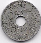 Tunisie 10 Centimes 1918 - Coins