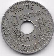 Tunisie 10 Centimes 1918 - Monnaies