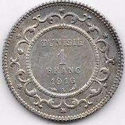Tunisie 1 Franc 1916 Argent - Coins
