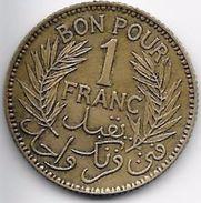 Tunisie 1 Franc 1921 - Coins