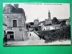 PONTCHATEAU- Vue Prise De La Place De La Gare Avec Café BOUTEMY - France