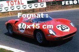 Reproduction D'une Photographie D'une Ferrari Numéro 20 Aux 24 Heures Du Mans En 1964 - Reproductions