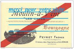 étiquette Bouteille De Vin DU BEAUJOLAIS MOULIN A VENT CAVES PEYRET Frères Chateau Des Capitans JULIENAS 69 Rhone Photo - Beaujolais