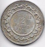 Tunisie 2 Francs 1915 Argent - Coins