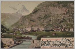 Zermatt Und Gornergratbahn - Phototypie - VS Valais