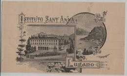 Lugano - Istituto Sant Anna - Künstlerkarte V. Turati (Briefbogenausschnitt) Keine Karte - TI Tessin