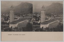 Lugano - Vue Generale, Vers S. Lorenzo - Stereo-Karte - TI Tessin
