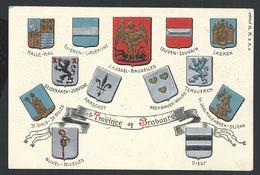 +++ CPA - Carte Fantaisie - Belgique - PROVINCE DE BRABANT - Embossed - Gaufrée - Relief - Blasons - Argenté  // - Belgique