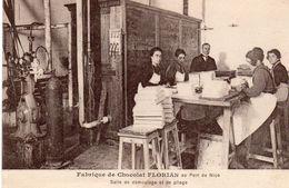 CPA 06  NICE FABRIQUE DE CHOCOLAT FLORIAN Au Port De Nice  SALLE DE DEMOULAGE ET DE PLIAGE Pub Au Dos - Nice