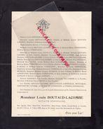 87-NEXON-FAIRE PART DECES LOUIS BOUTAUD LACOMBE- NOTAIRE-7-3- 1908-RENE SAZERAT-MARC BAYLE-JULES FAYOLLE-GABRIEL RUCHAUD - Décès