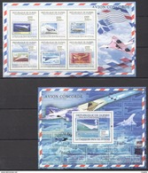 A386 2009 DE GUINEE AVIATION AVION CONCORDE AIR MAIL 1KB+1BL MNH - Concorde