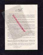 87-LIMOGES-FAIRE PART DECES ALBERT PENICAUD-21-11-1914-JEAN PENICAUD ARCHEVECHE CARTHAGE-LAJUDIE-GAY-JOUHAUD-ORIGET - Décès