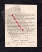 87-CIEUX-FAIRE PART DECES LEONCE PERRET-23-11-1905-NOTAIRE-GUSTAVE ROCHE-CRESSAC BACHELERIE-BRUMAULD DES HOULIERES - Décès