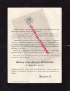 87-CHALUS-FAIRE PART DECES VEUVE MARCELIN GOURINCHAS-8-11-1899-ALCIDE SERIOT-REGAN-CHARLES DU REPAIRE DE LAVY-VVE LUNEAU - Décès