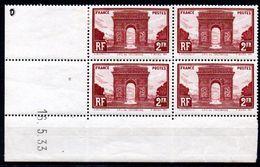 FRANCE - YT N° 258 Bloc De 4 Coin Daté - Neuf **/* - MNH/MH - Cote: 475,00 € - Lire Descriptif - - Dated Corners