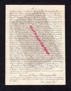 87-BARON DE NEXON -FAIRE PART DECES BARON HAINGUERLOT A CANNES 7-3-1888-OUDINOT DE REGGIO-EDOUARD BLOUNT-PAJOL- - Décès
