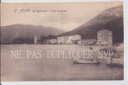 CPA SAGONE 20 VUE GENERALE - Other Municipalities