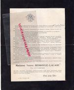 87-SAINT VITTE / BRIANCE-PONTFEUILLE-FAIRE PART DECES VVE BESSOULE LALAGE-JOSEPH MAIRE LA MEYZE NOTAIRE-COURNIL LAVERGNE - Décès