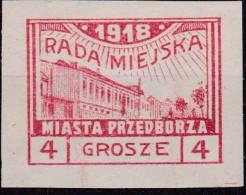 POLAND Przedborz Local Fi 8A Mint Hinged Signed Mikulski T.2 - ....-1919 Übergangsregierung