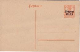 Germany Occupation 1916 Postgebiet Ob-ost Postcard Fi Cp 3 Mint - Occupation 1914-18