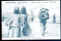 Cpa  De Constantinople Femmes Turques -- Messageries Maritimes - Comprimés Vichy état   SEP17-38 - Turquie