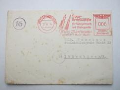 Firmen Freistempel , Meterstempel Auf Beleg Aus  WETTER (Hess.- Nassau)  1944 - Deutschland