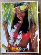PIN UP FEMME DEMI NUE COLLECTION FILLES DES MERS DU SUD TAHITIENNE TEVA SYLVAIN SCAN R/V - Pin-Ups