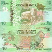 COOK ISLANDS 10 Dollars ND (1992) P 8 UNC - Islas Cook