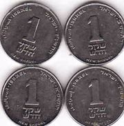Israel, 4 X ₪1 New Sheqel - Israel
