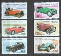 Congo 1996 Mi 1462-1467 MNH CLASSIC CARS (see Scan) - Cars