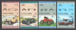 Funafuti-Tuvalu 1985 Mi 37-44 MNH CLASSIC CARS - Voitures