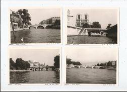 PONTS DE PARIS (75) 4 PHOTOS TIREES D'UN ALBUM 1966 (ST MICHEL . PONT NEUF. PETIT PONT . PONT ROYAL) - Lieux
