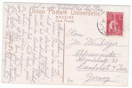 Portugal Postcard MAdeira To Germany--- 96C Ceres Stamp. - Variétés Et Curiosités