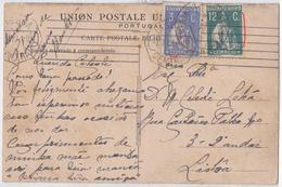 Portugal 3C Ceres 15X P. Liso Over Postcard- RRR- CV= 380€ - Variétés Et Curiosités