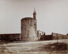 Vers 1860 E. Baldus 2 Photographies Citadelle Remparts Aigues-Mortes RARE - Antiche (ante 1900)