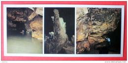 Tsalkhtubo Cave - Speleologist - Stalagmites - River - Caves Of Ancient Colchis - Kutaisi - 1988 - USSR Georgia - Unused - Géorgie