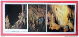 Tshaltubo Cave - Speleologist - Stalactite - Caves Of Ancient Colchis - Kutaisi - 1988 - USSR Georgia - Unused - Géorgie