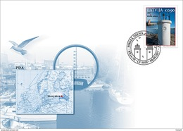 Latvia Lettland 2017 Lighthouses Of Latvia - Roja Fdc - Lettonia